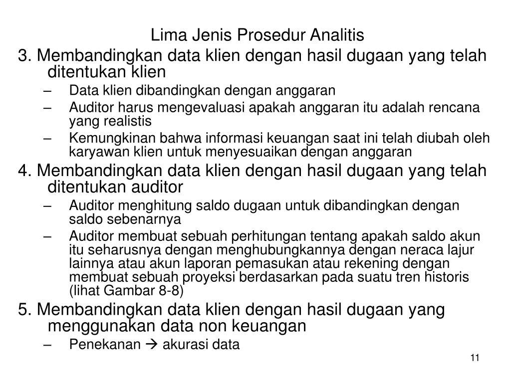 Lima Jenis Prosedur Analitis