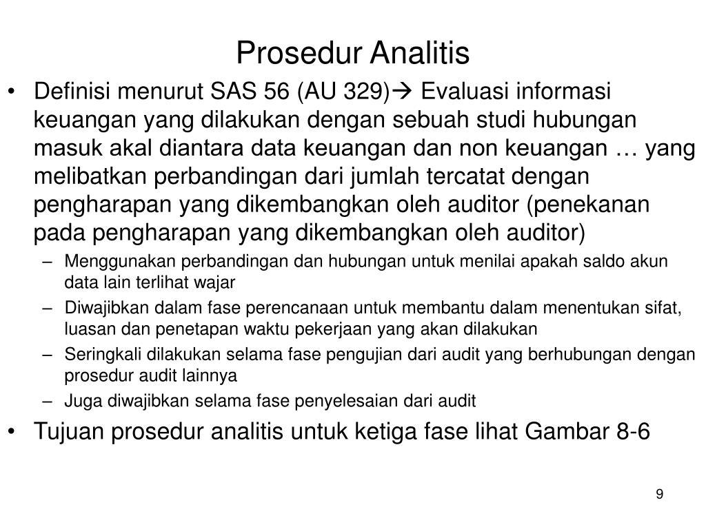 Prosedur Analitis