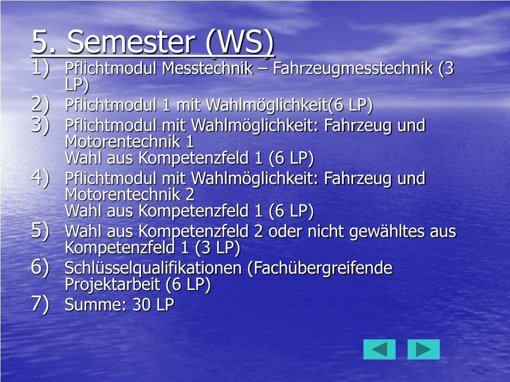 5. Semester (WS)