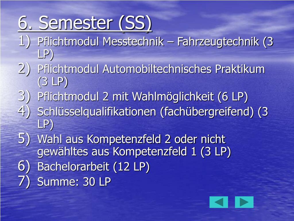 6. Semester (SS)
