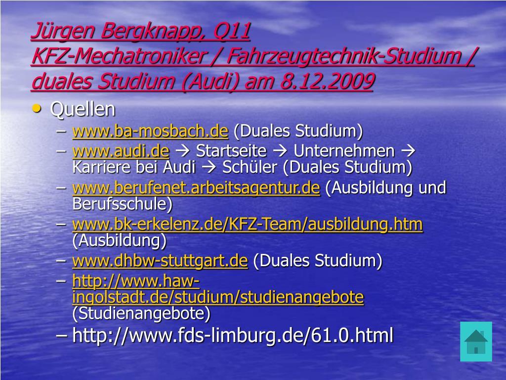 Jürgen Bergknapp, Q11