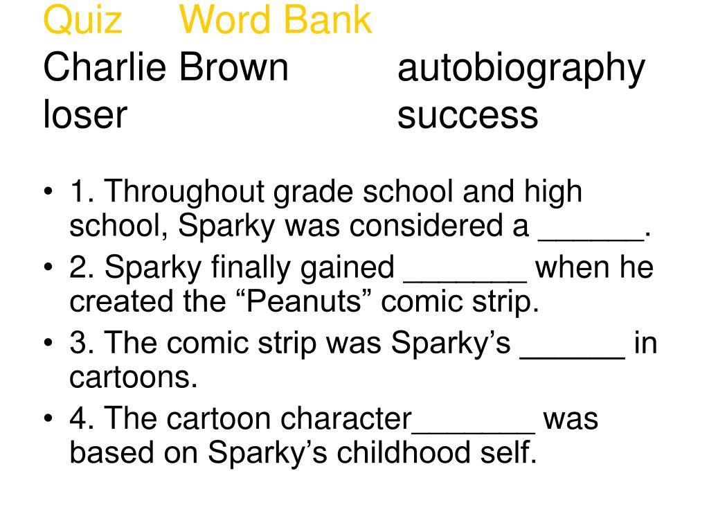 Quiz     Word Bank