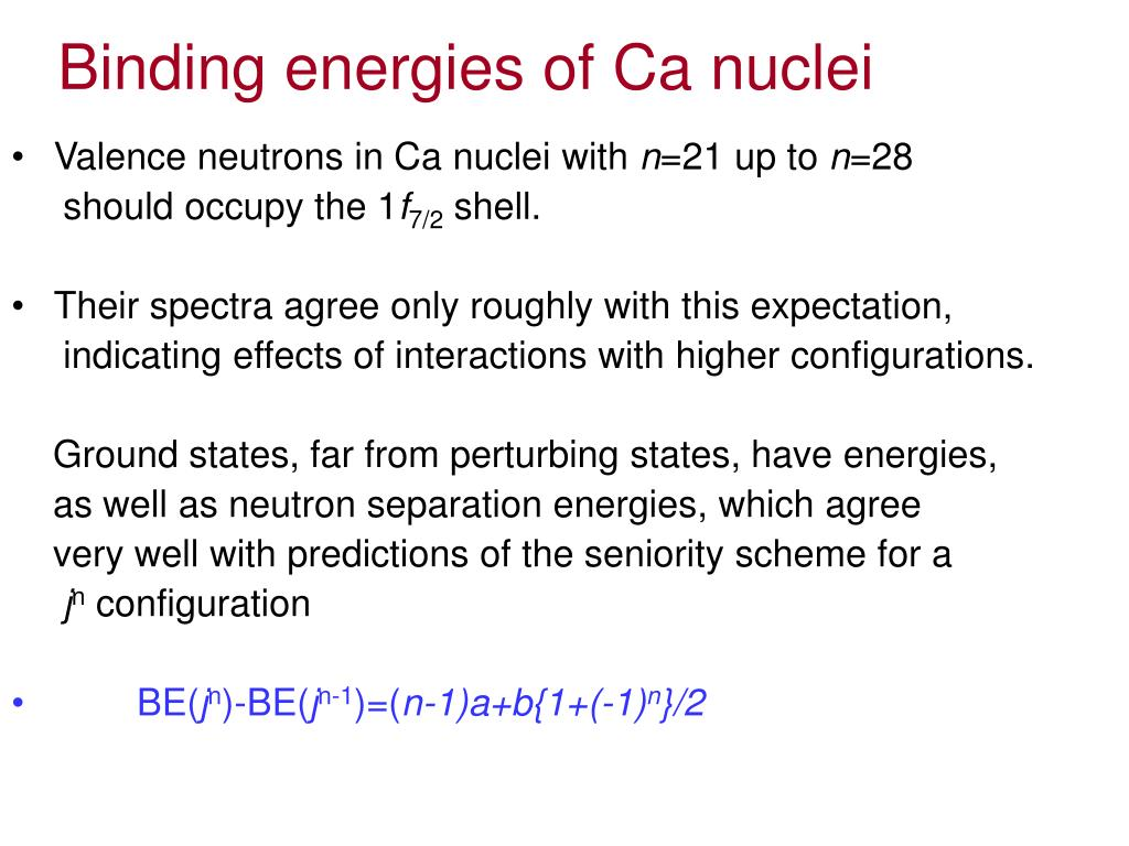 Binding energies of Ca nuclei