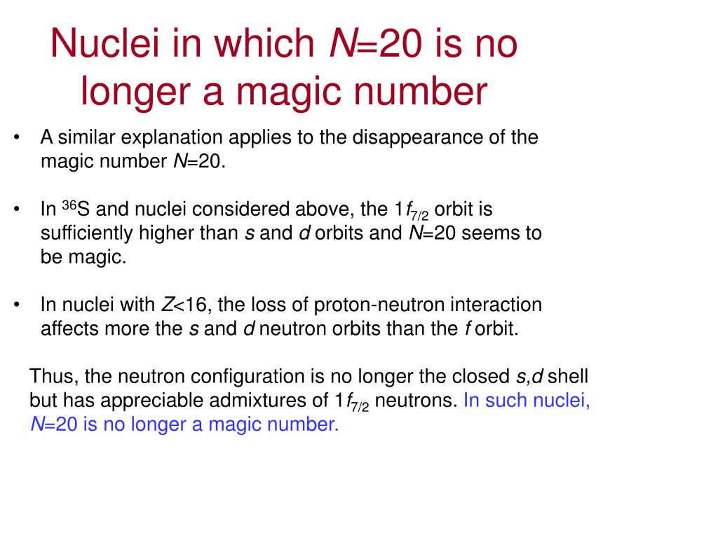 Nuclei in which