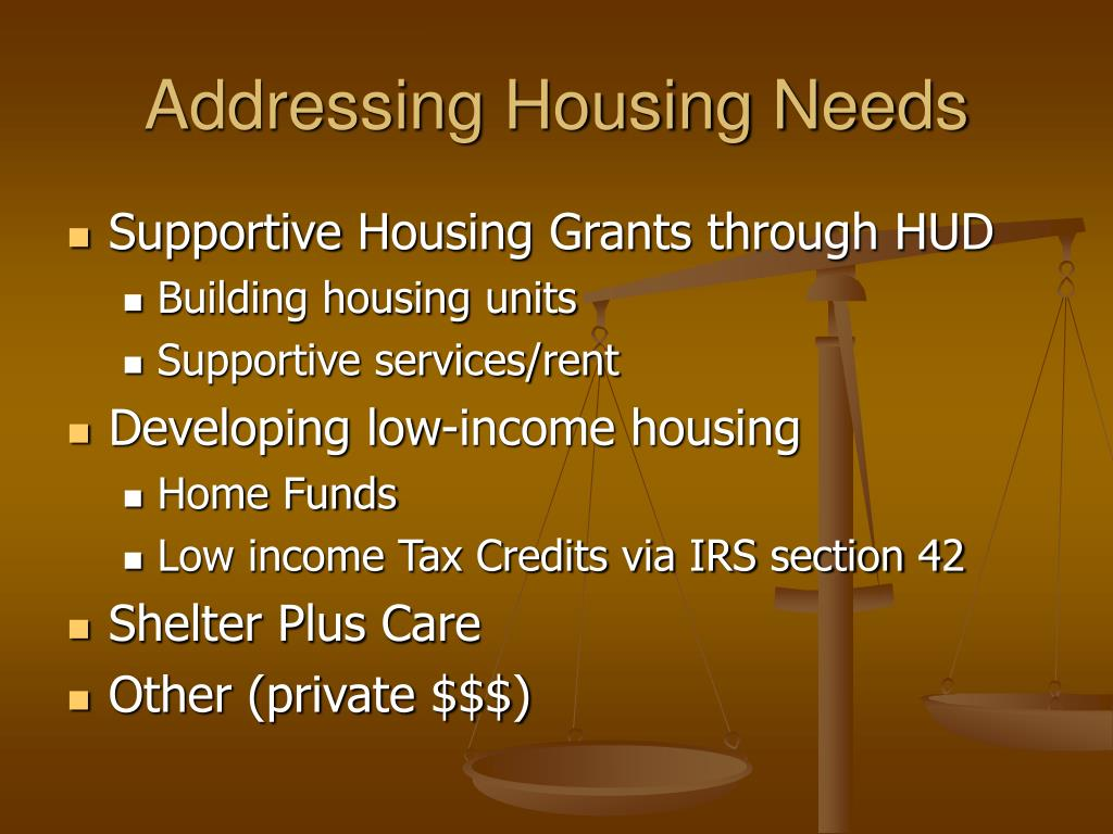 Addressing Housing Needs