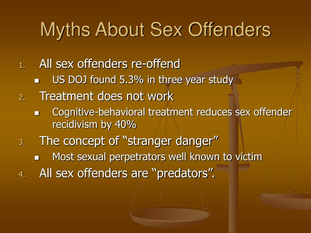 Myths About Sex Offenders