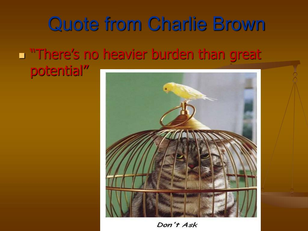 Quote from Charlie Brown