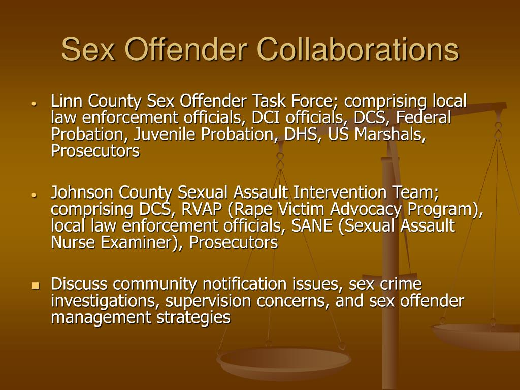 Sex Offender Collaborations