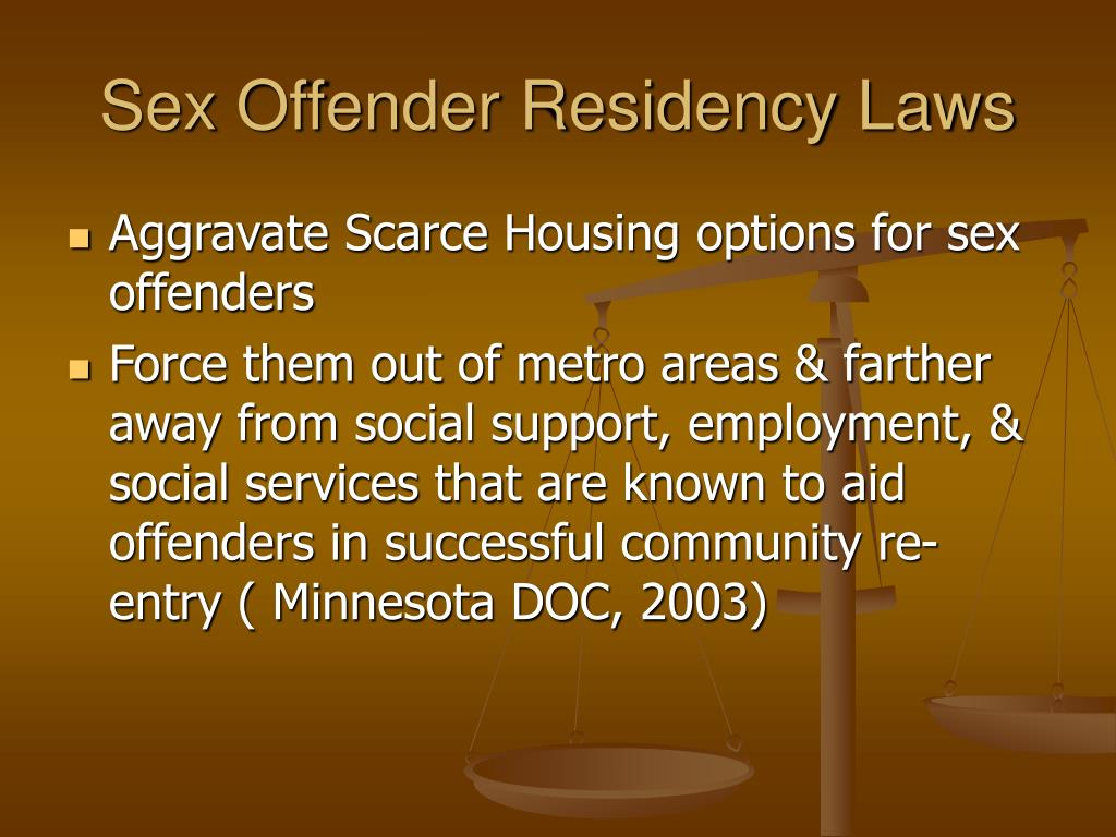Sex Offender Residency Laws