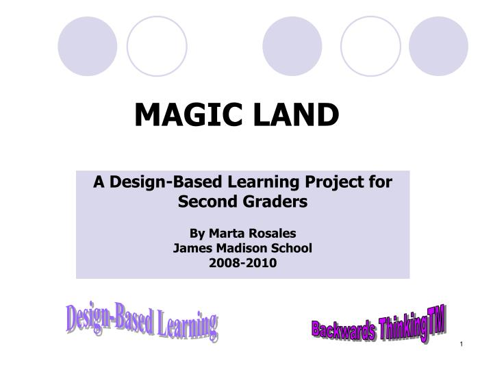 A design based learning project for second graders by marta rosales james madison school 2008 2010