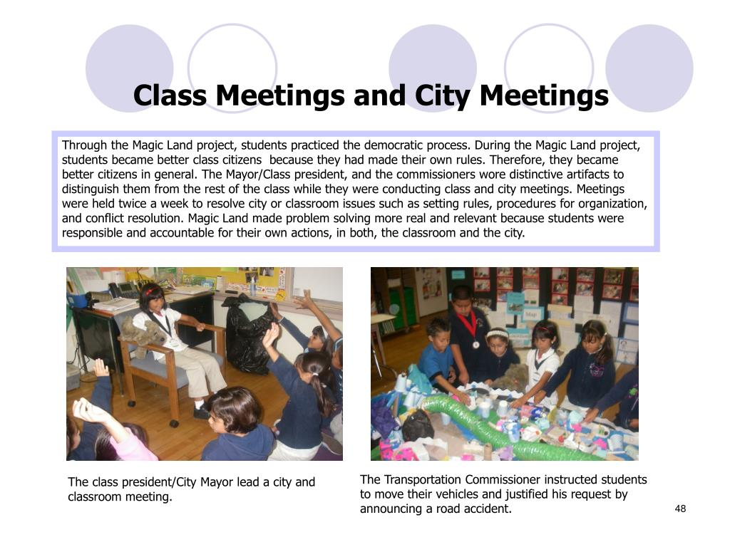 Class Meetings and City Meetings