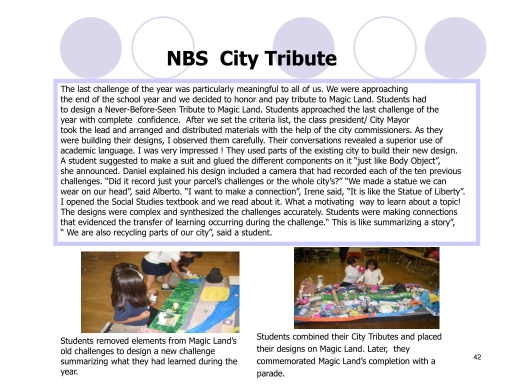 NBS  City Tribute