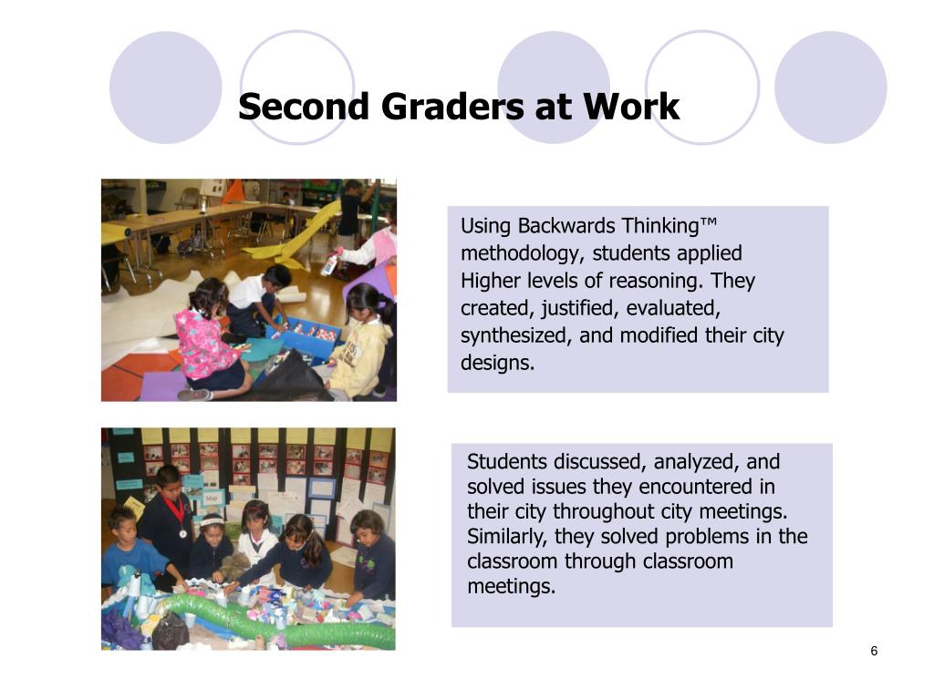 Second Graders at Work