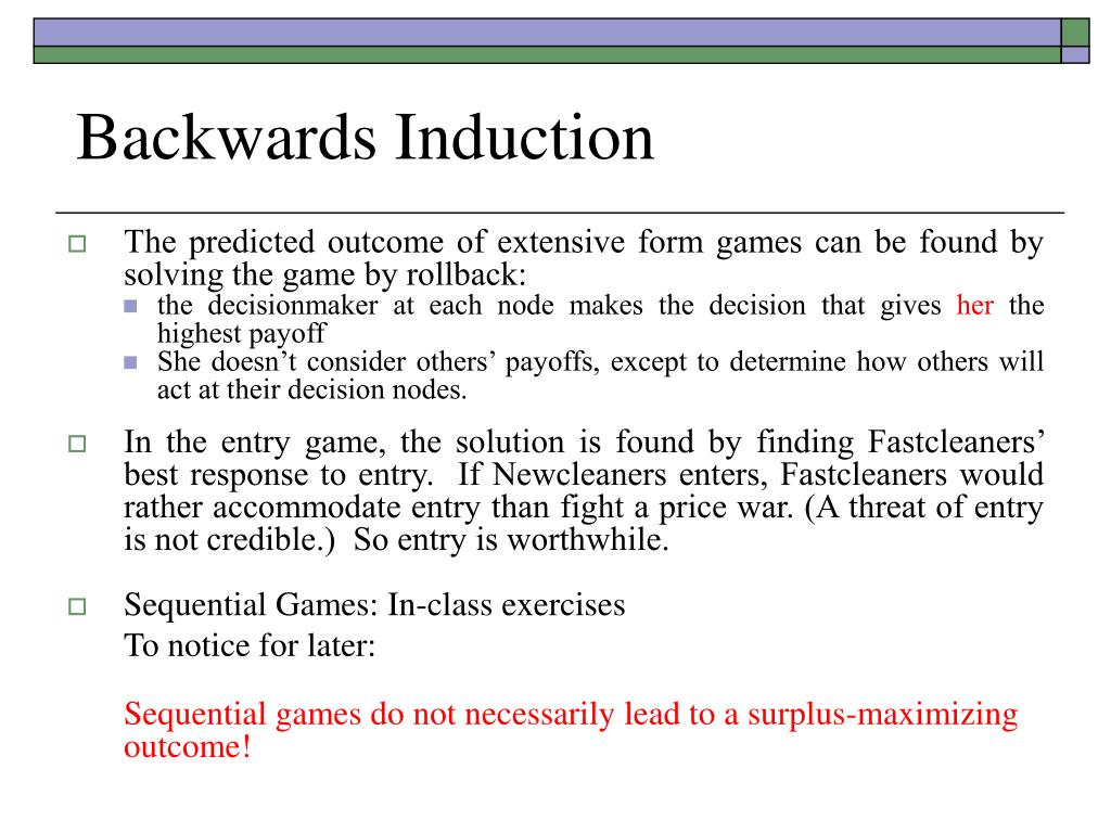 Backwards Induction