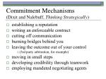 commitment mechanisms dixit and nalebuff thinking strategically