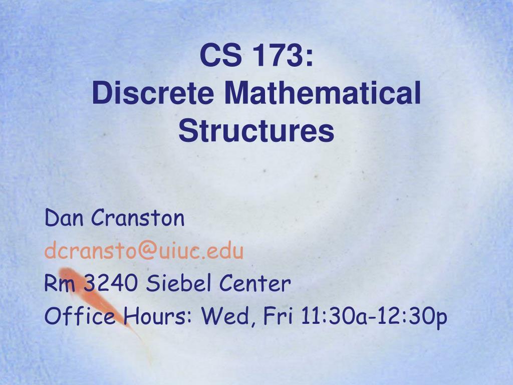 CS 173: