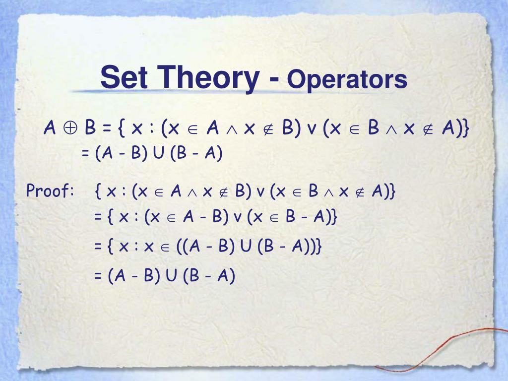 Set Theory -