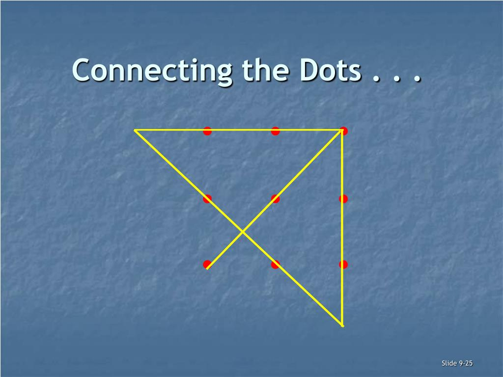 Connecting the Dots . . .