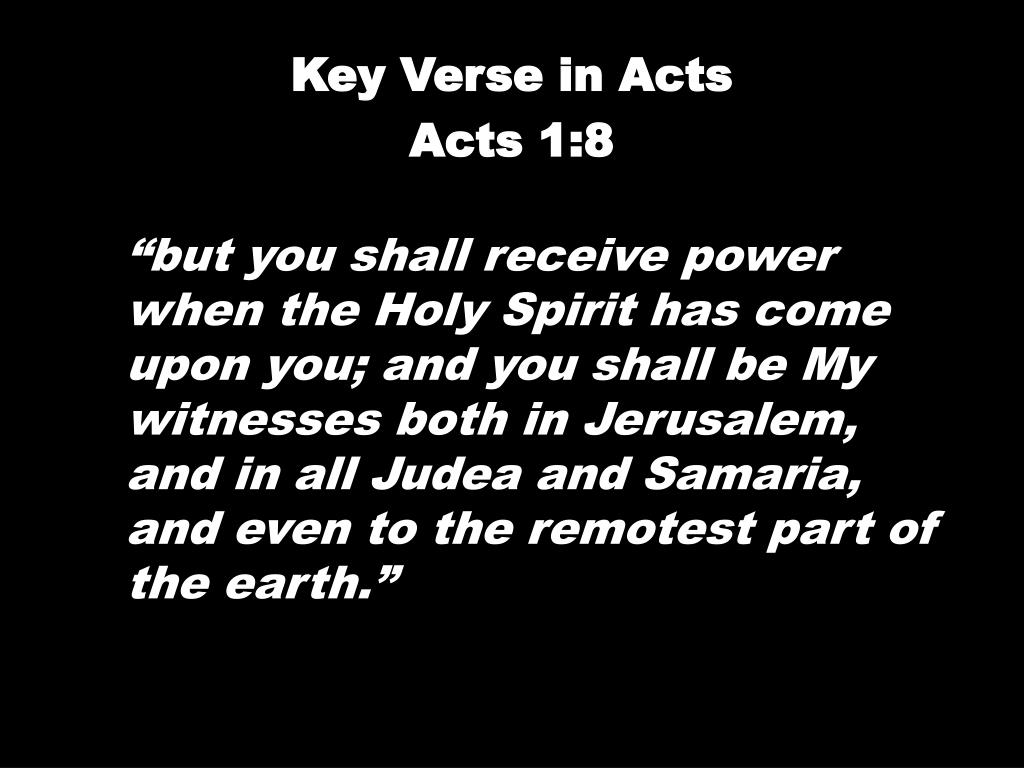 Key Verse in Acts