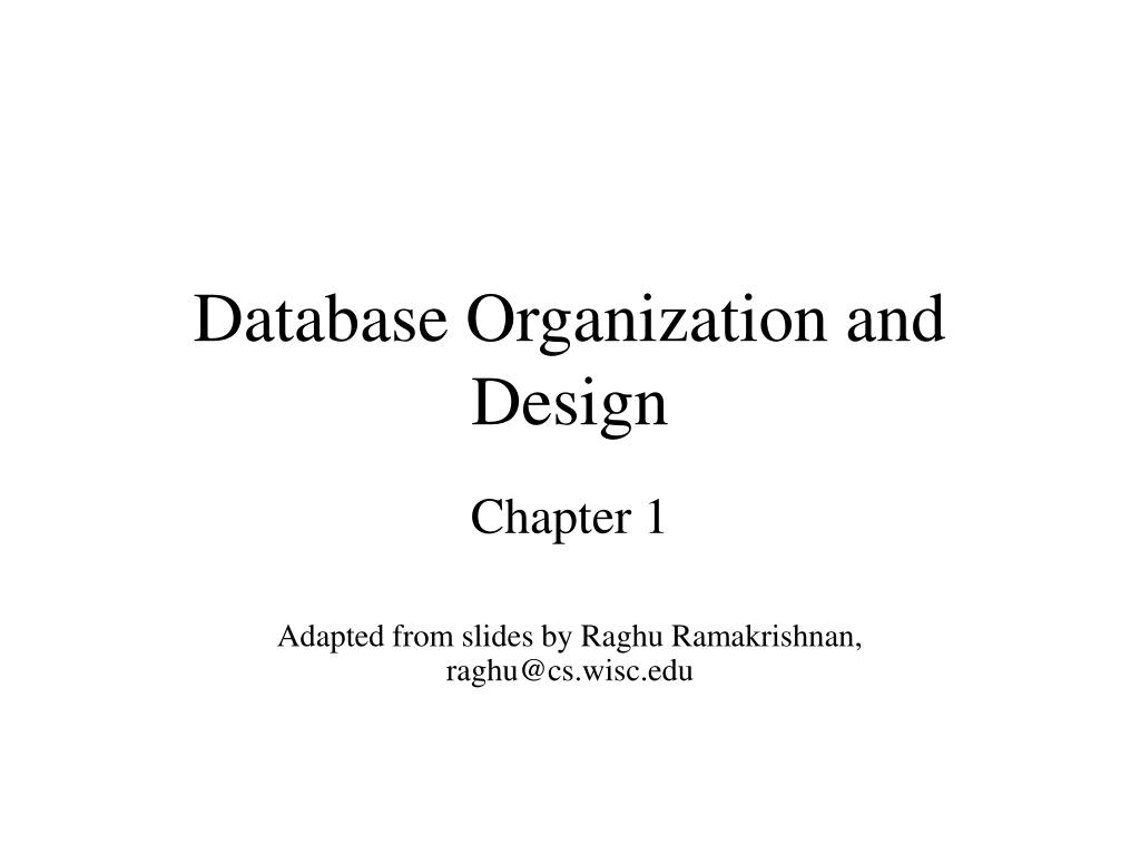 database organization and design