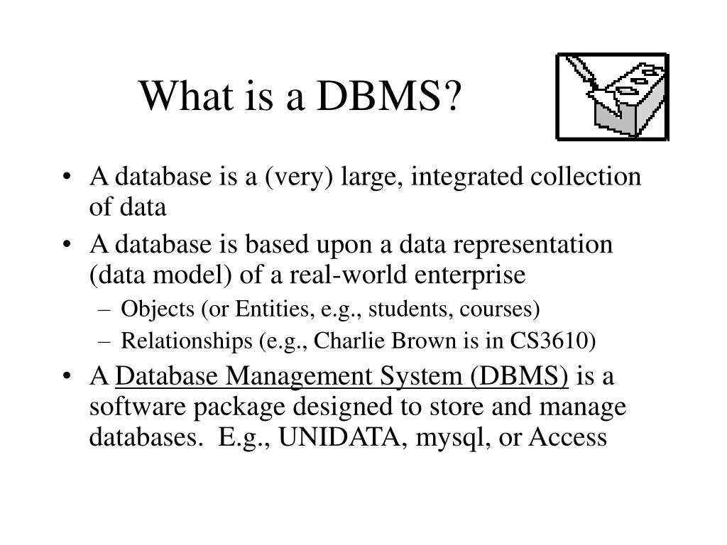 What is a DBMS?