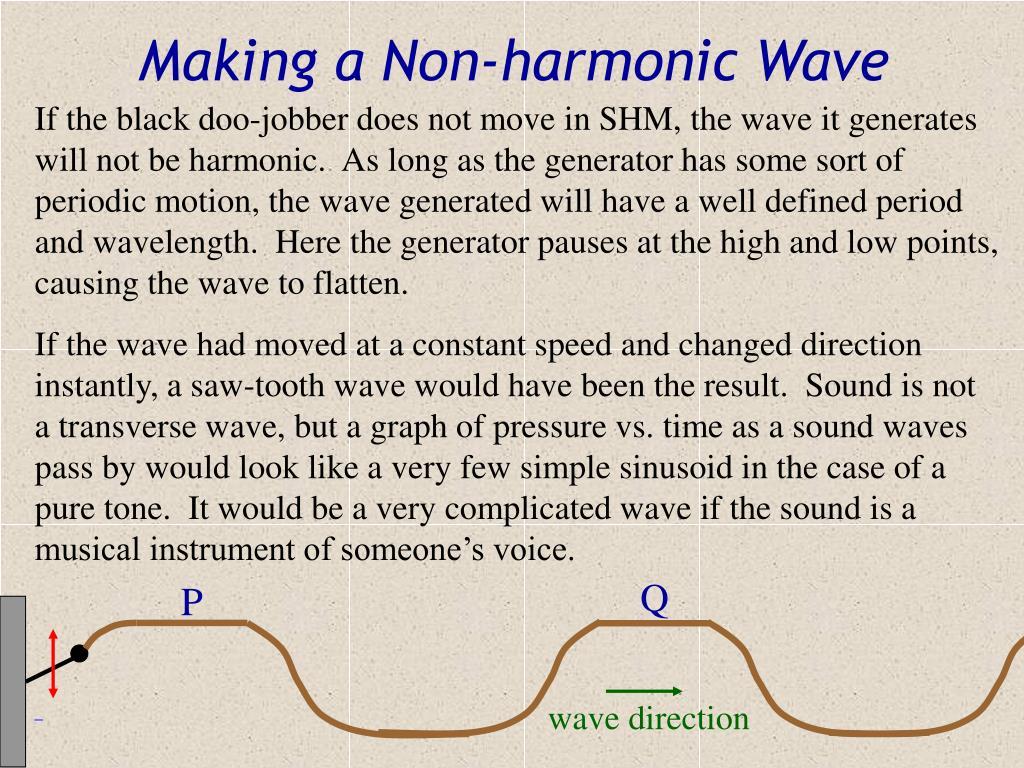 Making a Non-harmonic Wave