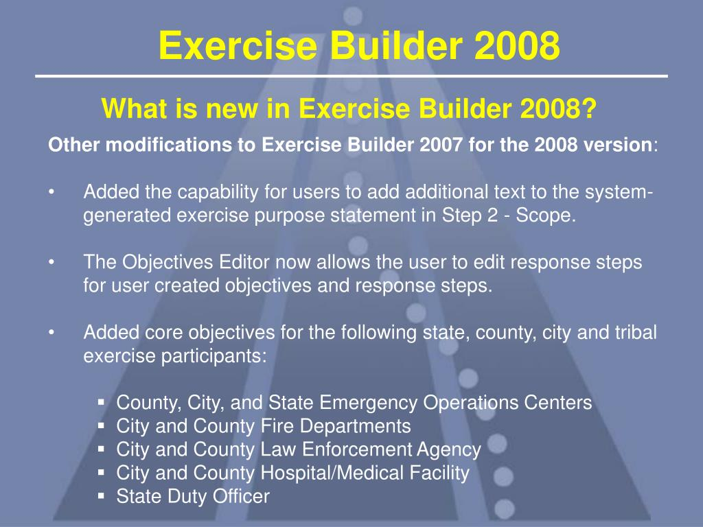 What is new in Exercise Builder 2008?