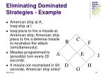 eliminating dominated strategies example