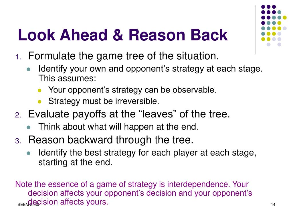 Look Ahead & Reason Back