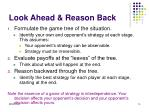 look ahead reason back