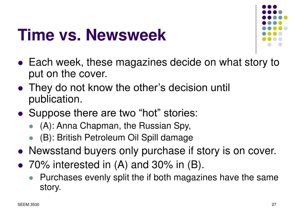 Time vs. Newsweek