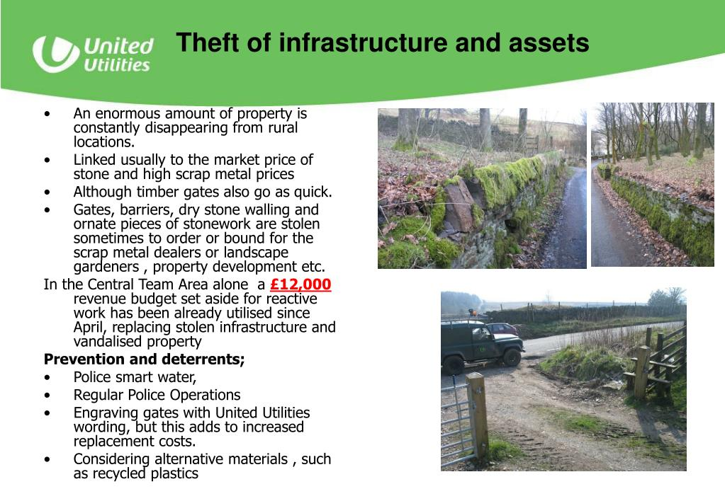 Theft of infrastructure and assets