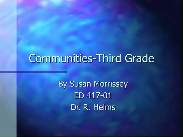 Communities third grade
