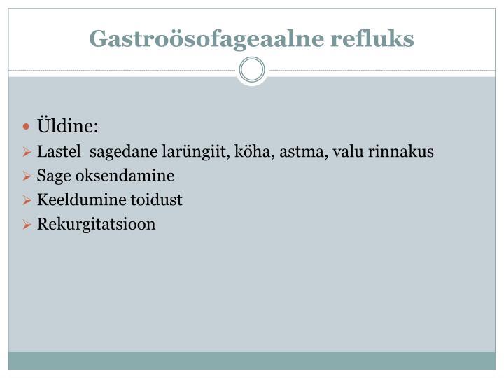 Gastroösofageaalne