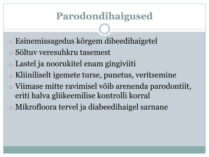Parodondihaigused