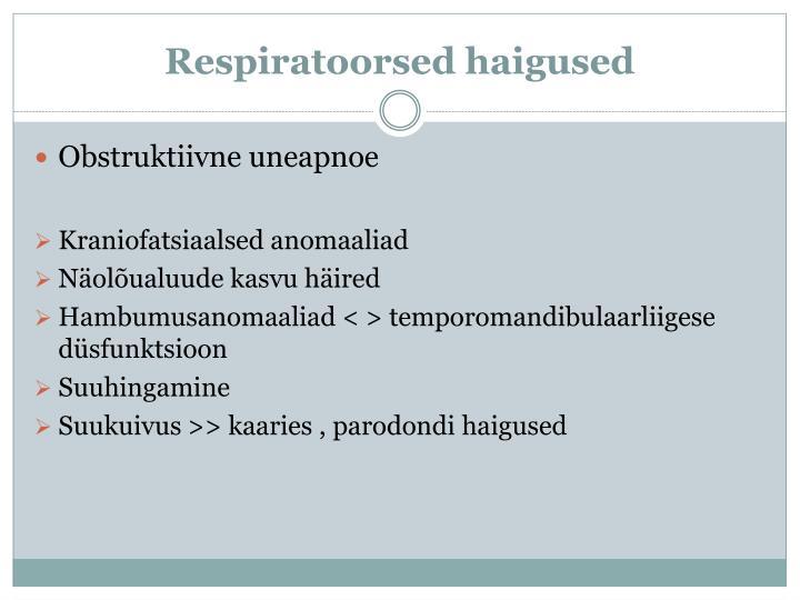 Respiratoorsed haigused