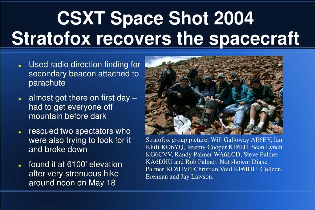 CSXT Space Shot 2004