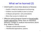 what we ve learned 2