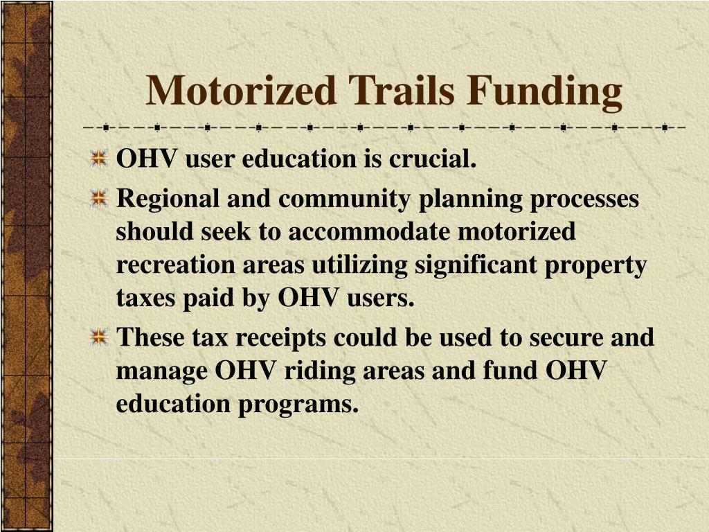 Motorized Trails Funding