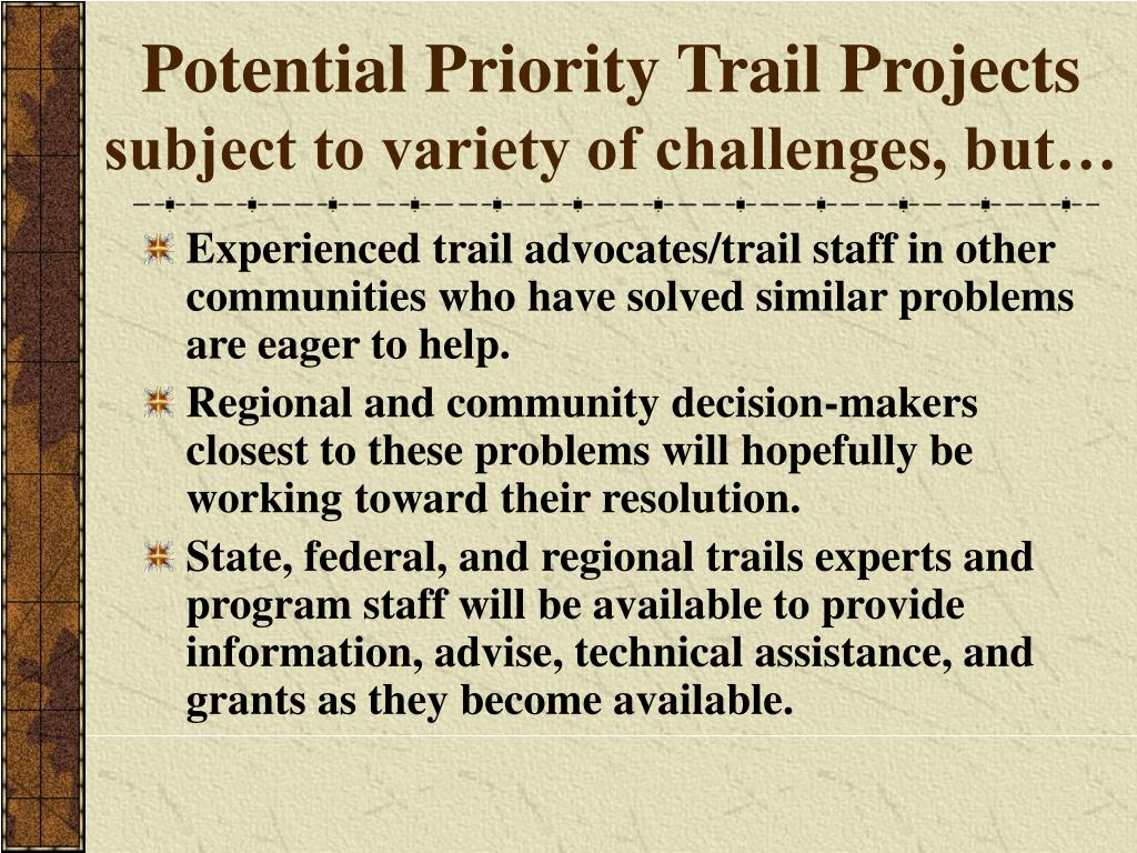 Potential Priority Trail Projects