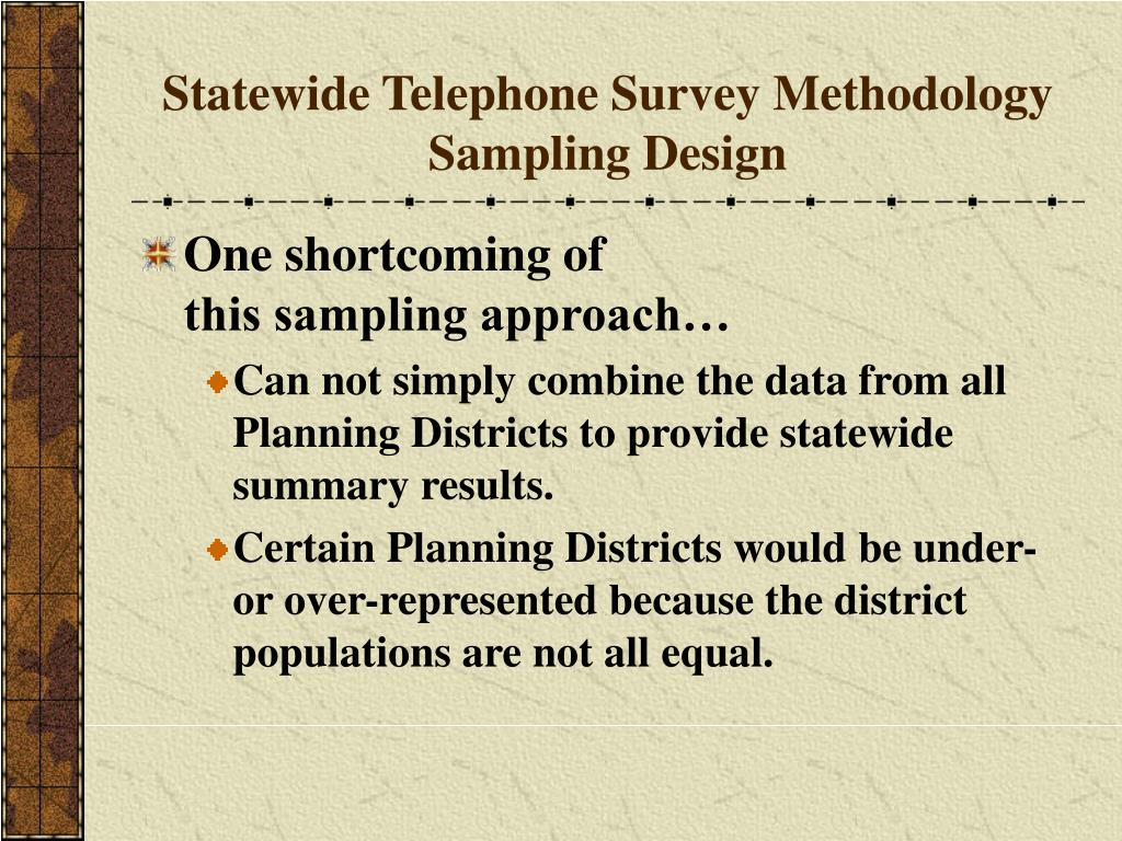 Statewide Telephone Survey Methodology