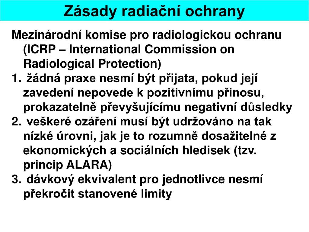 Mezinárodní komise pro radiologickou ochranu (ICRP – International Commission on Radiological Protection)
