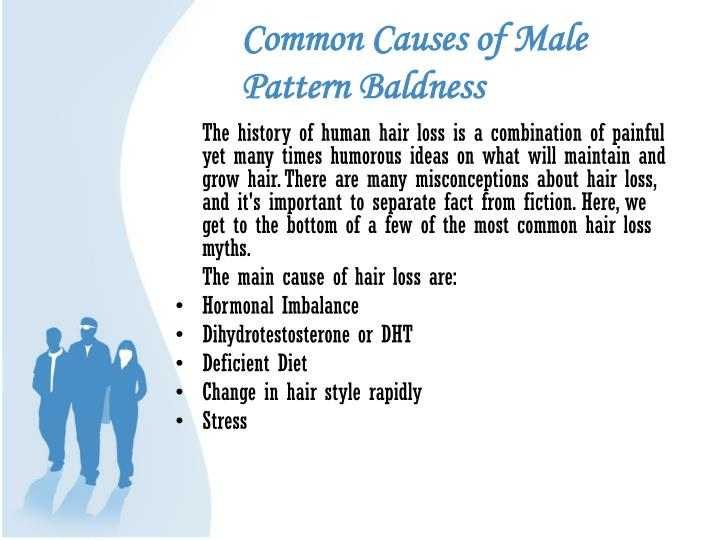 Common causes of male pattern baldness