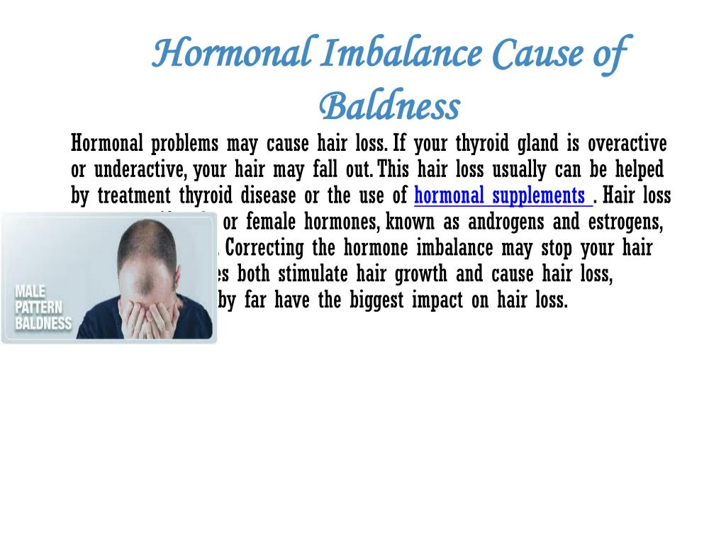 Hormonal Imbalance Cause of Baldness