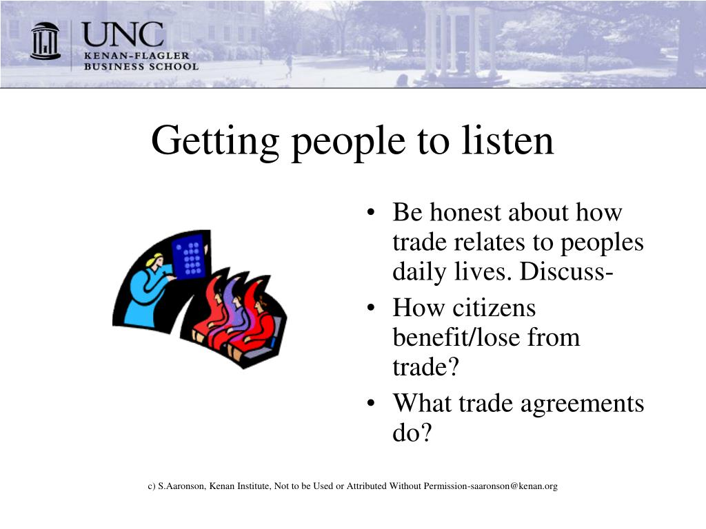 Getting people to listen