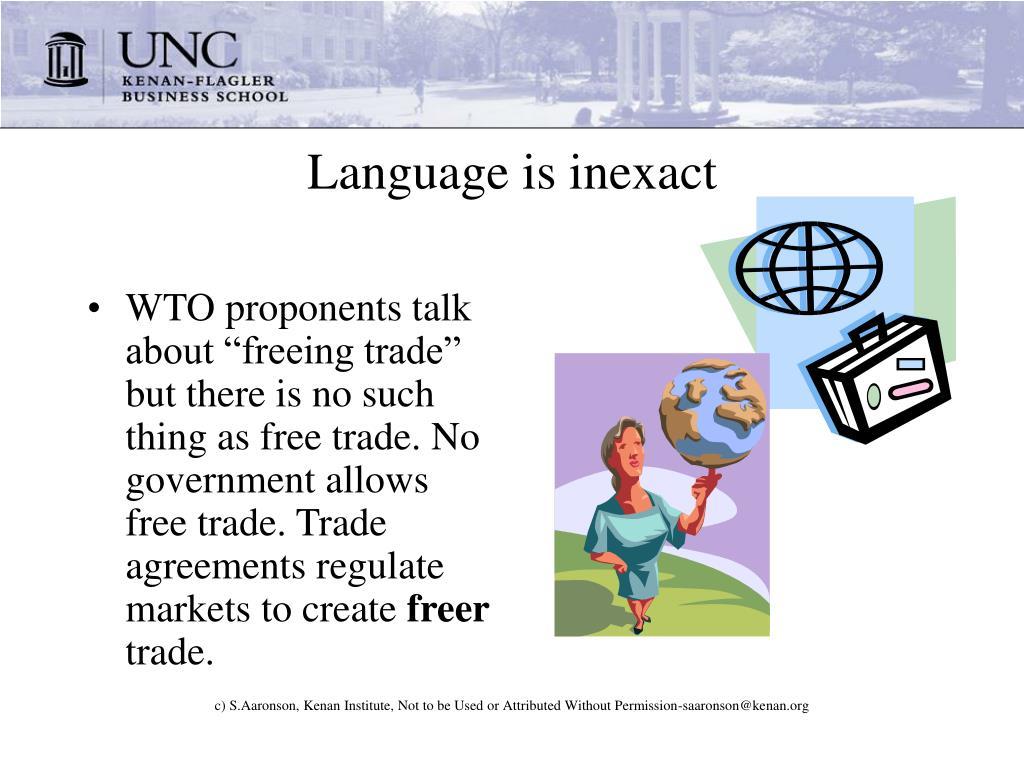 Language is inexact