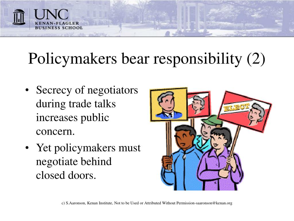 Policymakers bear responsibility (2)