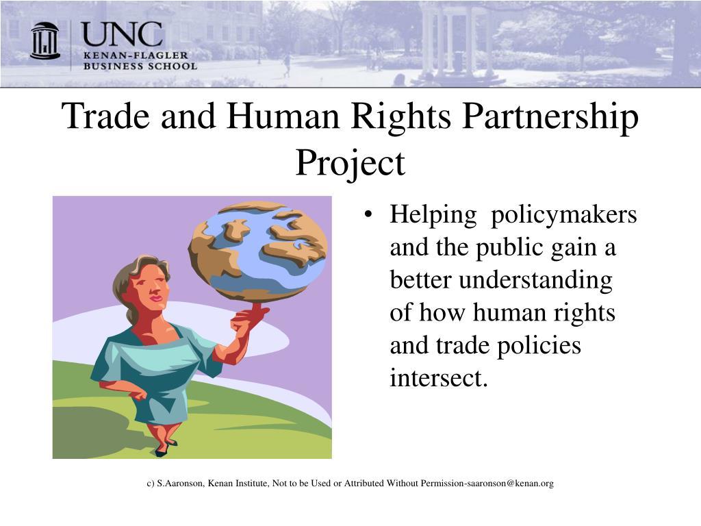 Trade and Human Rights Partnership Project