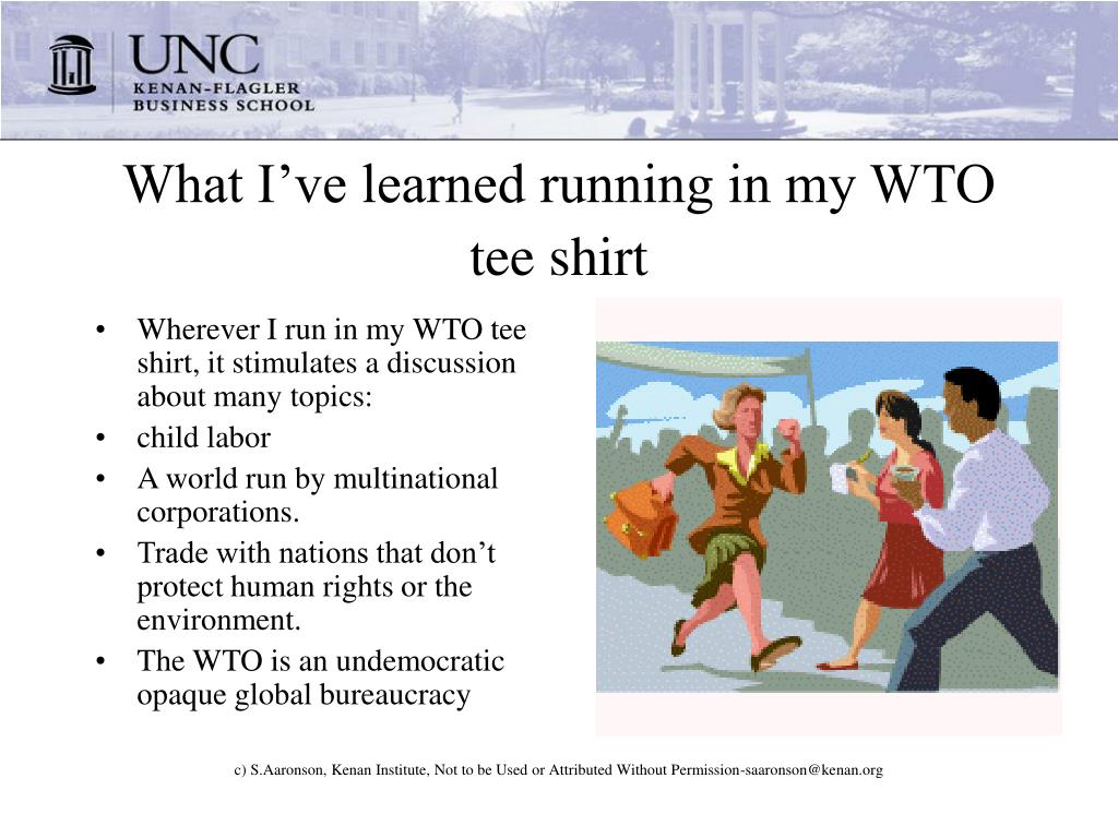 What I've learned running in my WTO tee shirt