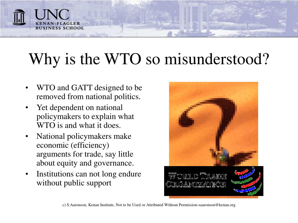 Why is the WTO so misunderstood?